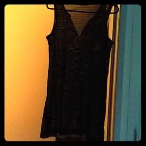 Black swim suit cover up